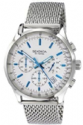 Sekonda 3414 Gents Stainless Steel Chronograph Silver Dial Sports Watch
